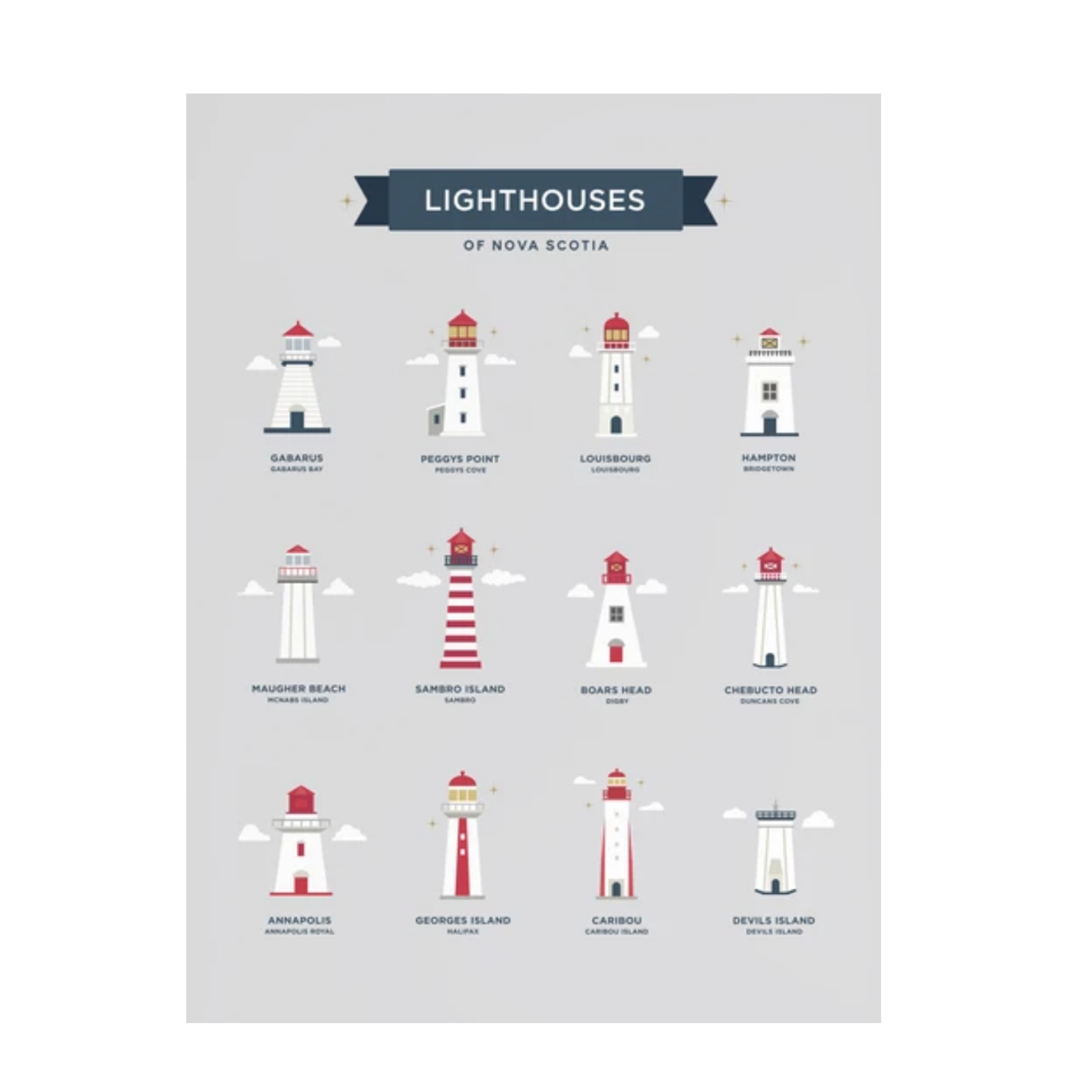 Halifax Paper Hearts - Nova Scotia Lighthouses
