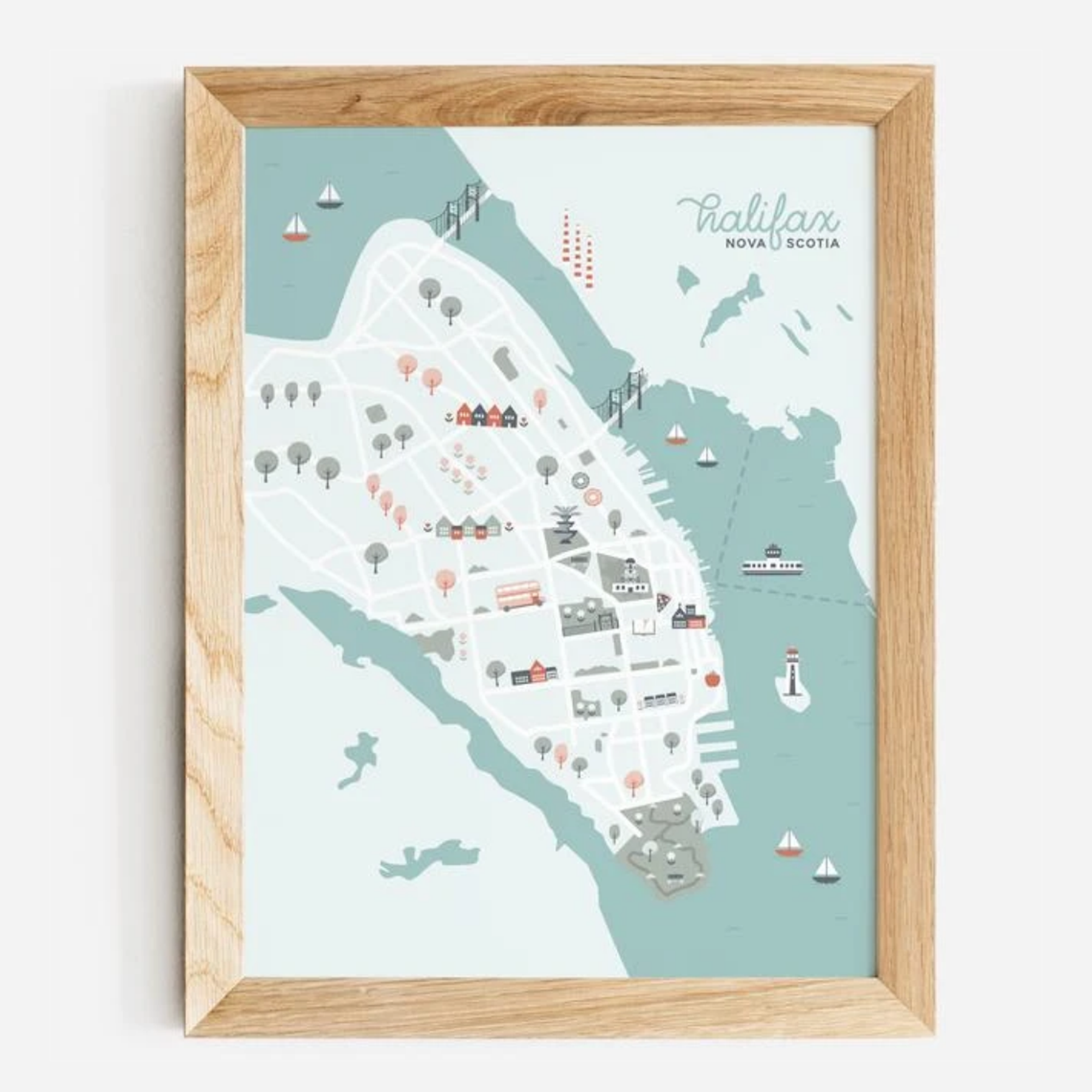 Halifax Paper Hearts - Halifax Map