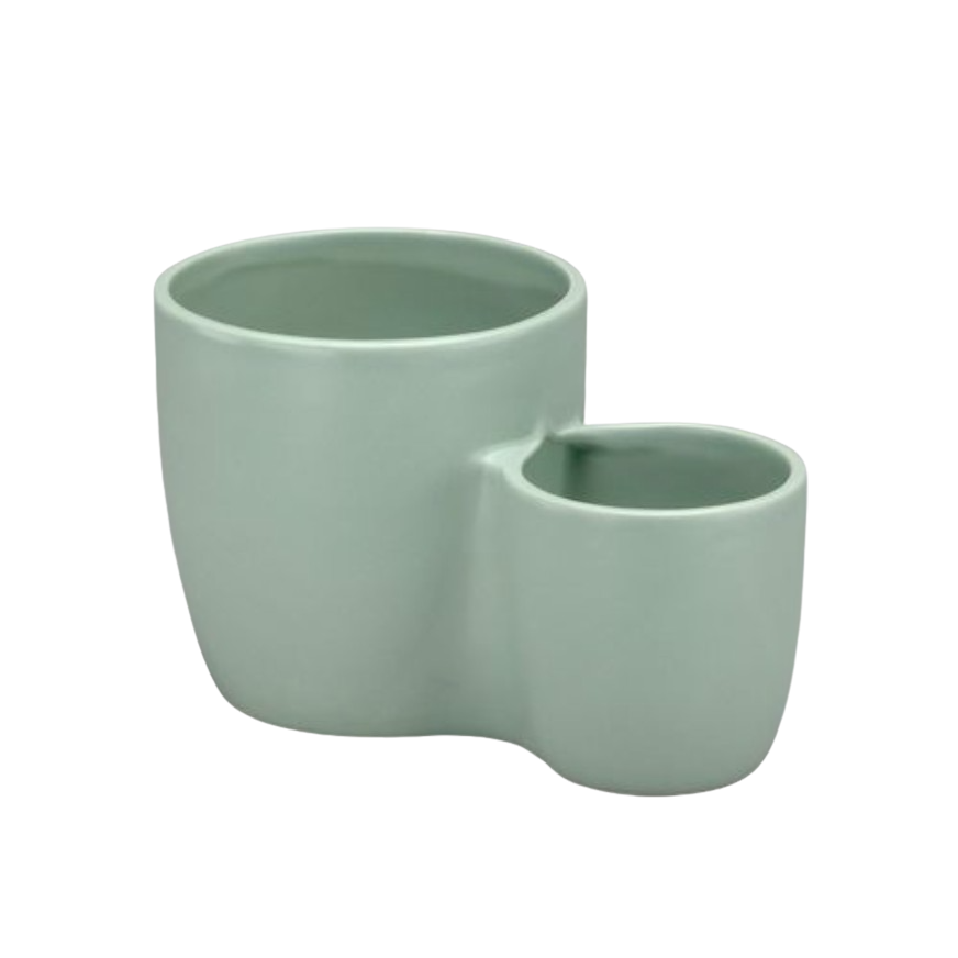 Planter - Double Pot - Aqua
