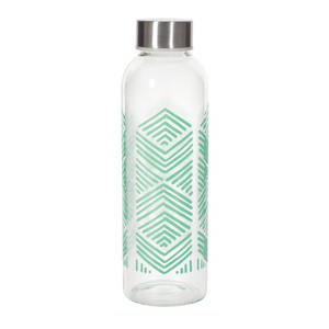 Glass Water Bottle - Sustain Mint