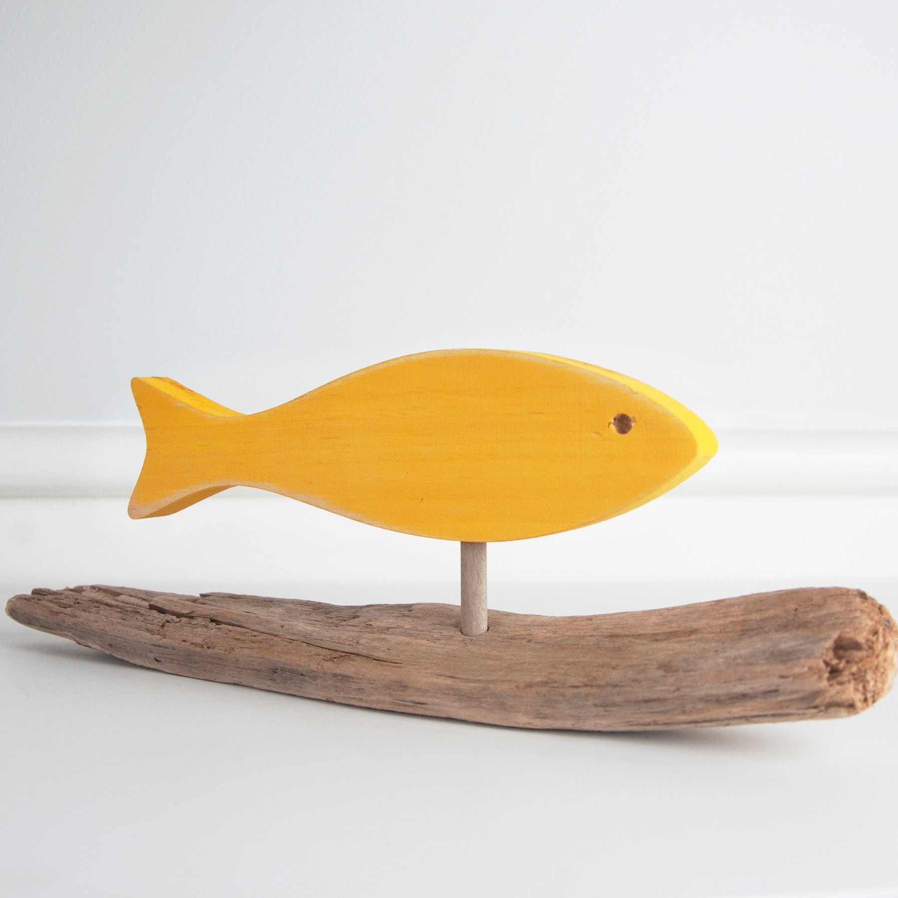 Jerry Walsh - Driftwood Fish - Yellow