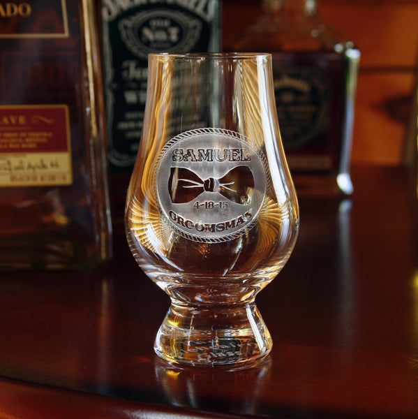 Best Man Engraved Personalized Gifts, Glencairn Glass