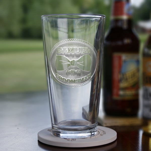 Best Man Engraved Personalized Gifts, Pint Beer Glass