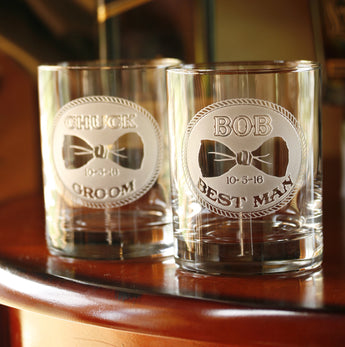 Best Man Engraved Personalized Gifts, Whiskey Glass