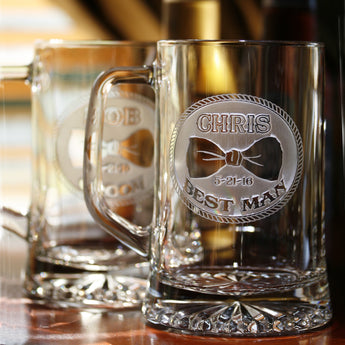 Best Man Engraved Personalized Gifts, Beer Mugs