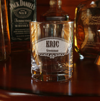 Groomsmen Whiskey Bourbon Glasses Engraved Gifts