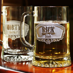 Engraved Groomsman Gift Ideas, Personalized Etched Beer Mugs, Wedding Favors