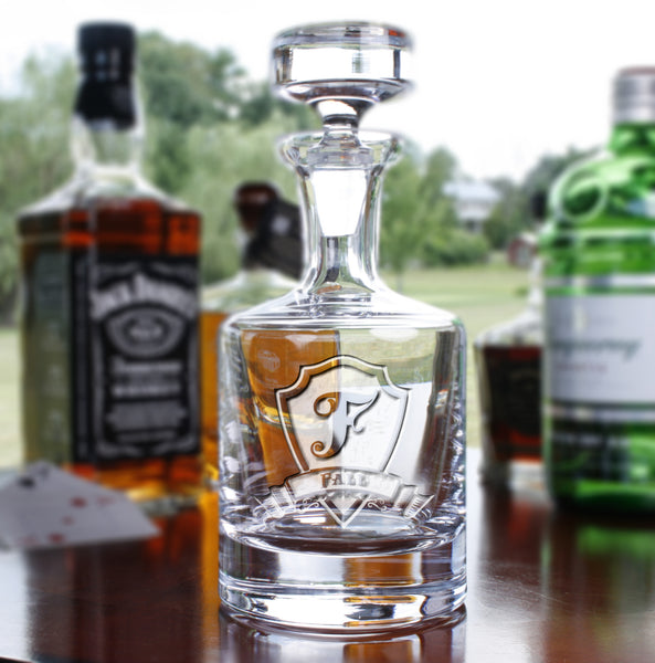Groomsmen Decanter Gifts, Engraved Etched Personalized Best Man Gift.