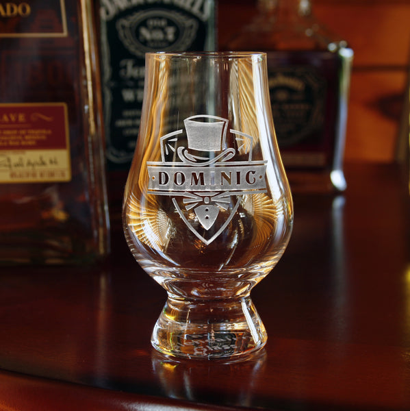 Groomsman Gift Ideas, Engraved Glencairn Glasses