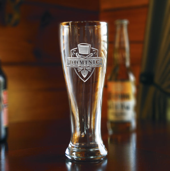 Engraved Groomsmen Gifts, Pilsner Beer Glasses