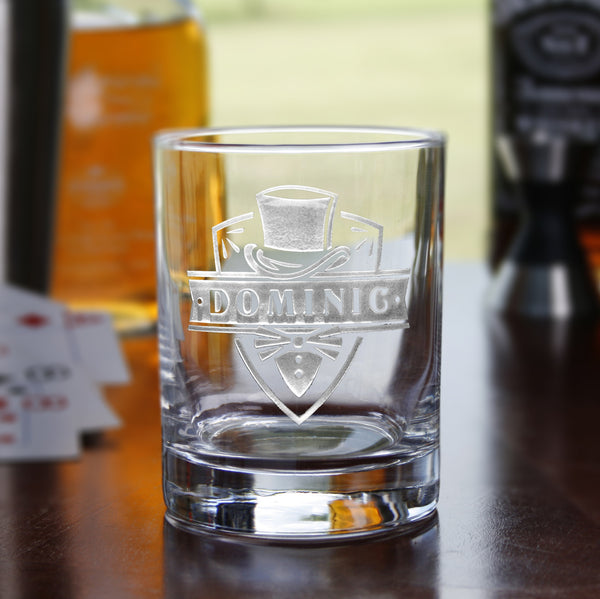 Groomsman Gift Ideas, Engraved Bourbon Rocks Glass
