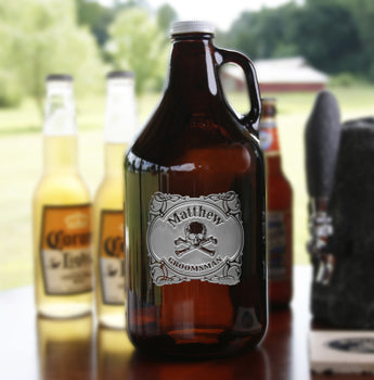 Skull and Bones Growler Groomsmen Gift