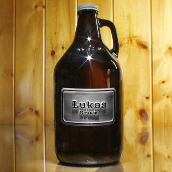 groomsman best man engraved growler gift