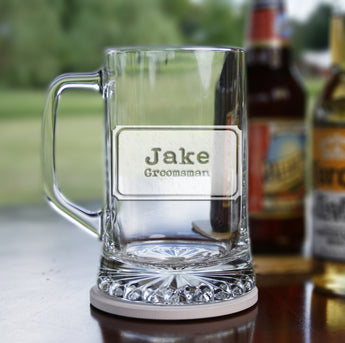 groomsman best man engraved beer mug gift