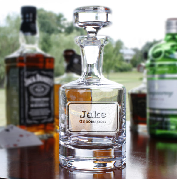 groomsman best man engraved decanter gift