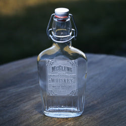Whiskey Label Flask Personalized Engraved