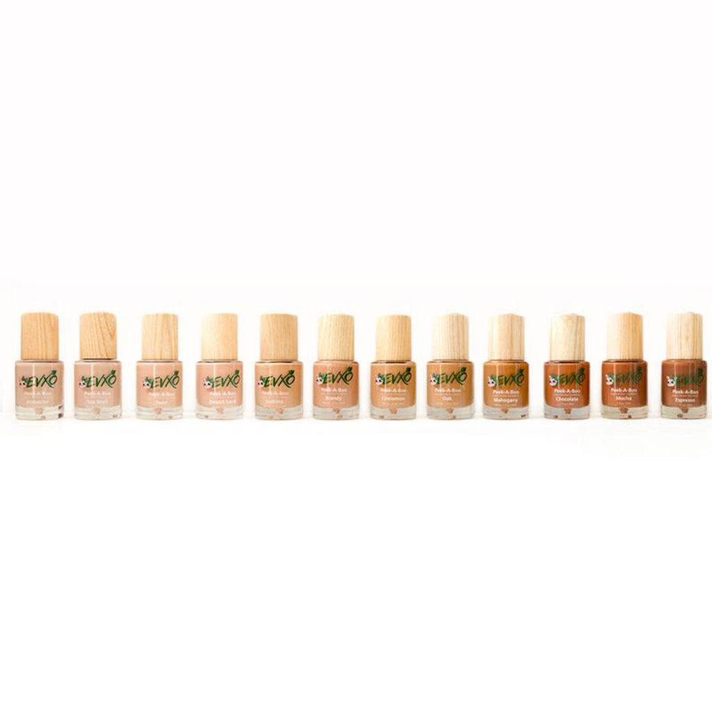 Peek-A-Boo Organic Liquid Mineral Foundation - EVXO Cosmetics