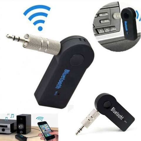 Handfree Car Bluetooth Music Receiver Universal 3.5mm Wireless Auto AUX  Mic For Phone MP3