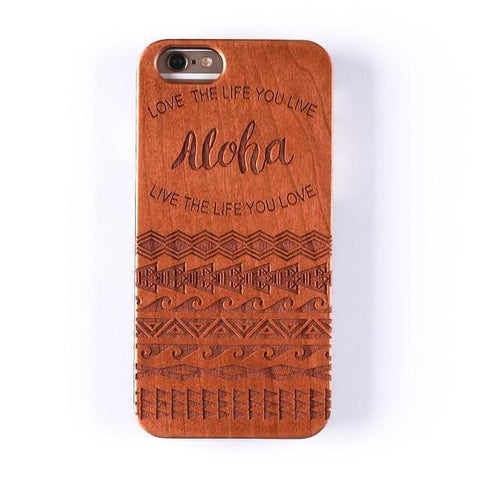 4 / For iPhone XS Max Coque en bois - Aloha