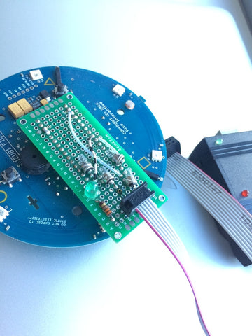 Programmer Connected to Zubi Flyer PCB