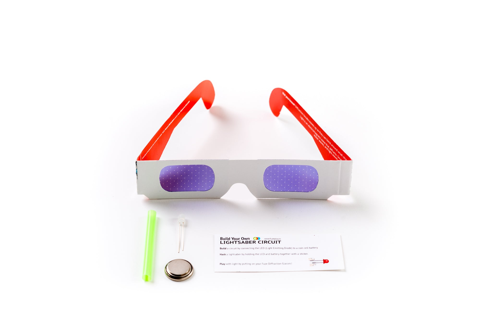 Fuzeplay Lightsaber Circuit Kit Star Diffraction Glasses Build Your Own And