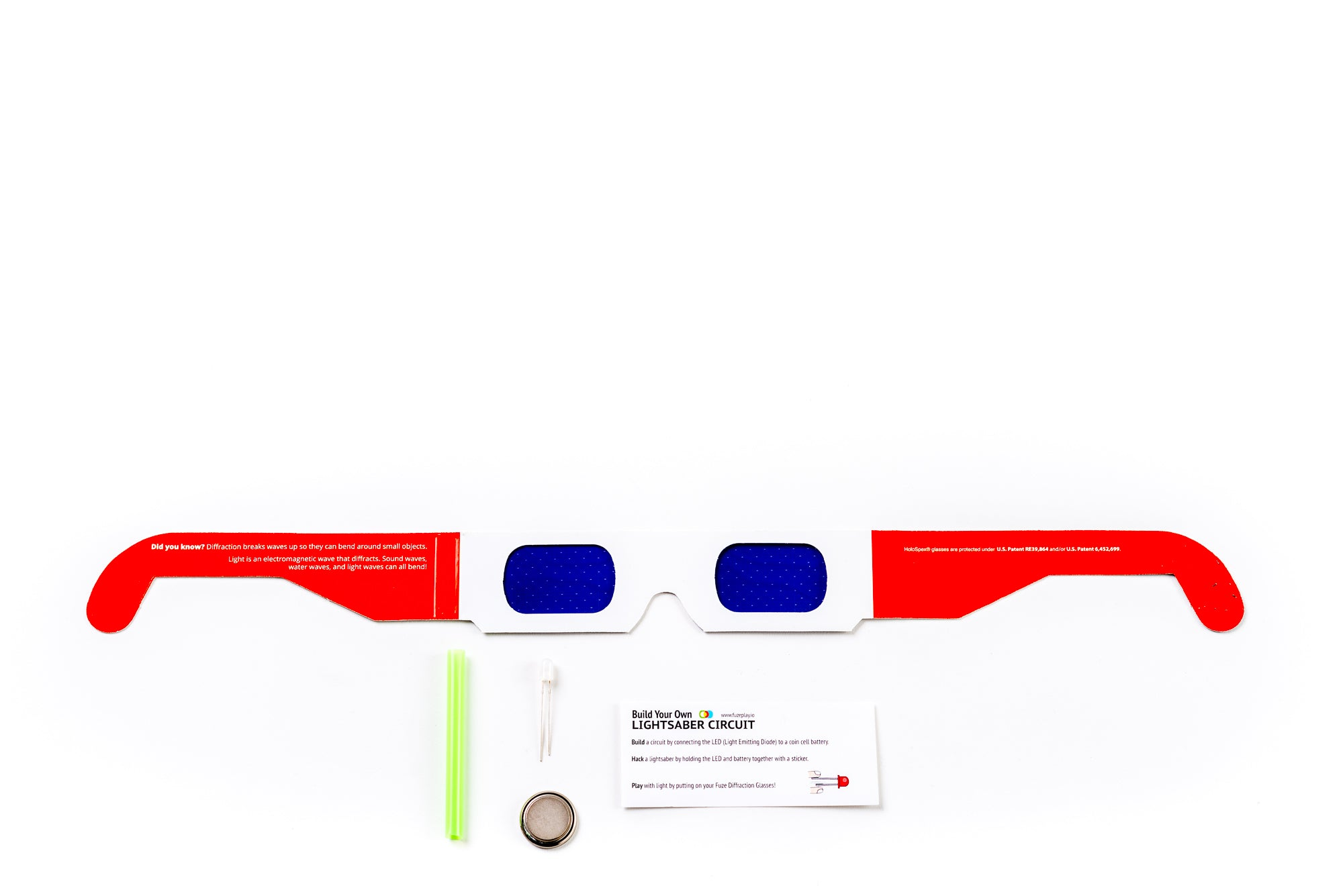 Fuzeplay Lightsaber Circuit Kit Star Diffraction Glasses Build Your Own Simple Classroom Stem Project