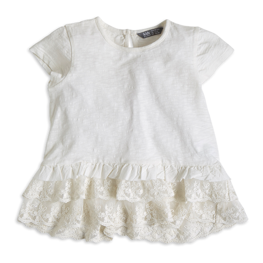 Top with Frill Hem