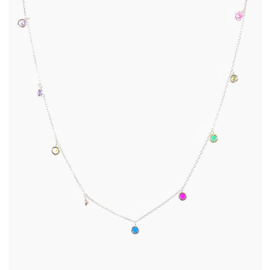 Rainbow Drop Necklace (sterling silver or 16K gold)