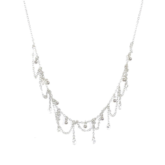 Sterling Silver Antique Crystal Necklace