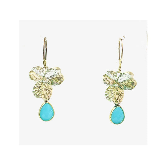 Energy Stone Clover Leaf Earrings (various stone options in gold or silver)