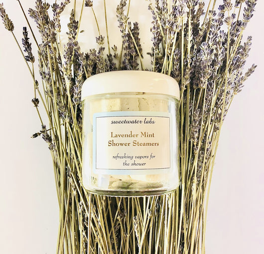 NEW! Lavender-Mint Shower Steamers! Place in shower to calm + refresh!