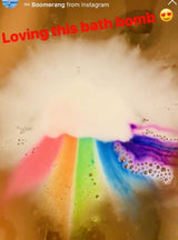 New! Moisturizing Rainbow Cloud Bath Bomb. 2-pack