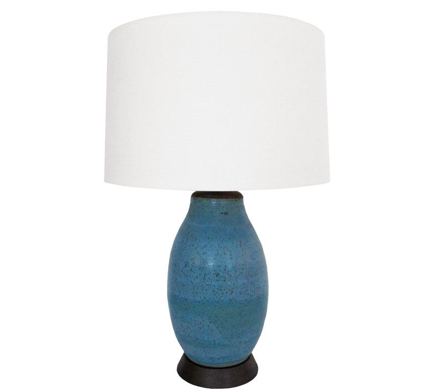 Natan Moss Ceramic Table Lamp Turquoise Hollywood At Home 2017