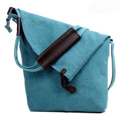 Canvas Vintage Shoulder Bag in blue