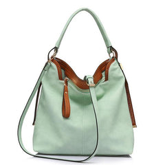 Casual Soft PU Leather Bag in light green