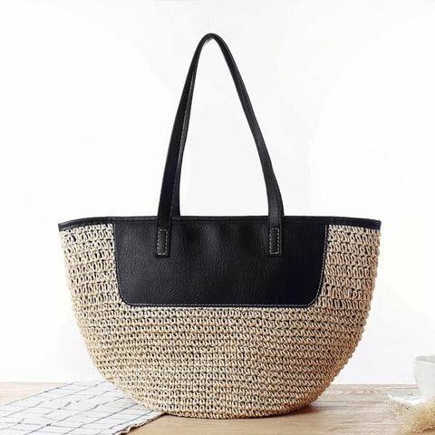 The European style straw casual bag