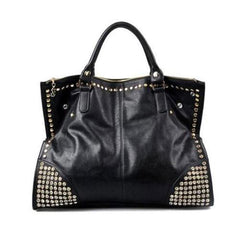 Hot casual studded black tote