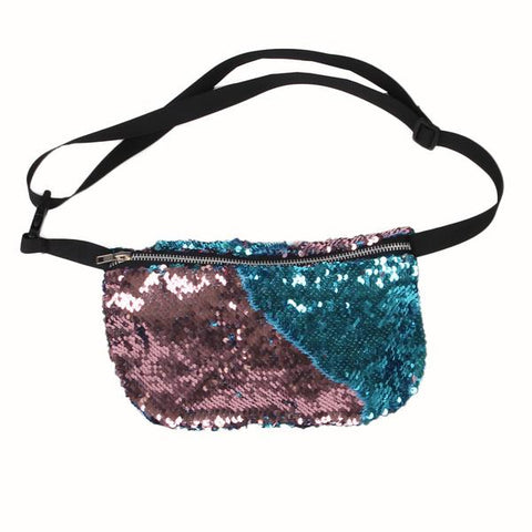 Luxury paillettes waist fanny pack bag