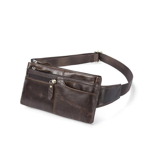 Vintage Genuine Leather Waist Pack in brown or black