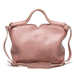 Top-Handle PU Leather Bag in neutral color