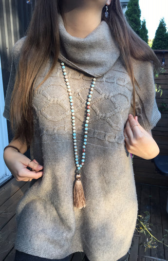 Lila's Beauty BagAmazonite Precious Stones Yoga NecklaceMala${product_tags}