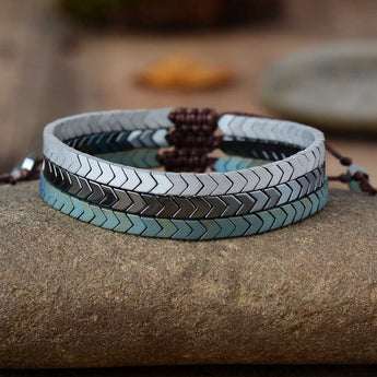 Lila's Beauty BagHematite Lovers and Friendship BraceletBoho${product_tags}