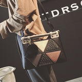 New Rivet Patchwork Tote,  bag, [product_collection], Lila's Beauty Bag