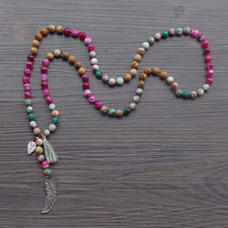 Mixed Stones Mala,  Boho, Lila's Beauty Bag, [product_tags]
