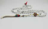 White Stone Long Mala,  Boho, [product_collection], Lila's Beauty Bag