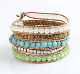 Opal And Turquoise Stone Wrapped Bracelet,  Boho, [product_collection], Lila's Beauty Bag