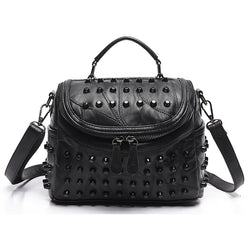 Luxury Sheepskin Studded Bag,  bag, [product_collection], Lila's Beauty Bag