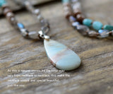 Labradorite Onyx and Amazonite Necklace,  Boho, [product_collection], Lila's Beauty Bag