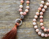 Vintage Frosted Stones Yoga Necklace,  Mala, [product_collection], Lila's Beauty Bag