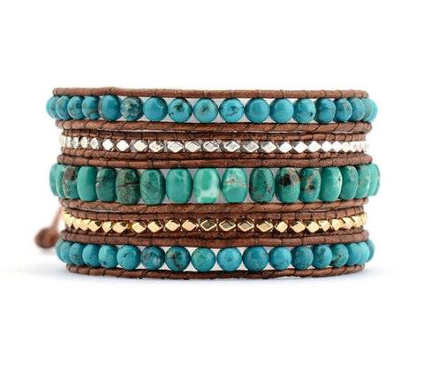 Exclusive Natural Stones Statement Bracelet,  Boho, [product_collection], Lila's Beauty Bag